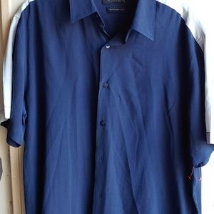 Blue Axist Camp Shirt Medium